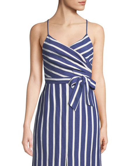Alice + Olivia Rayna Tie-Front Crossover Tank and