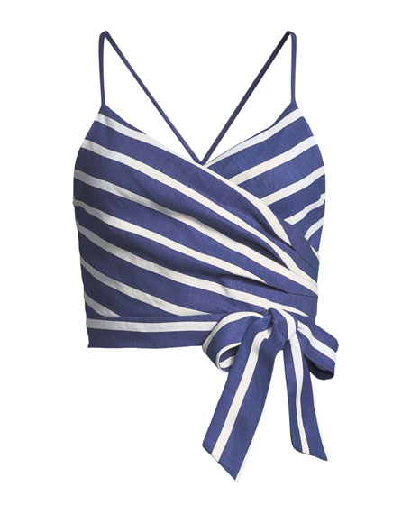 Rayna Tie-Front Crossover Tank