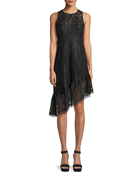 Nanette Lepore Mata Hari Asymmetric Sequined Dress