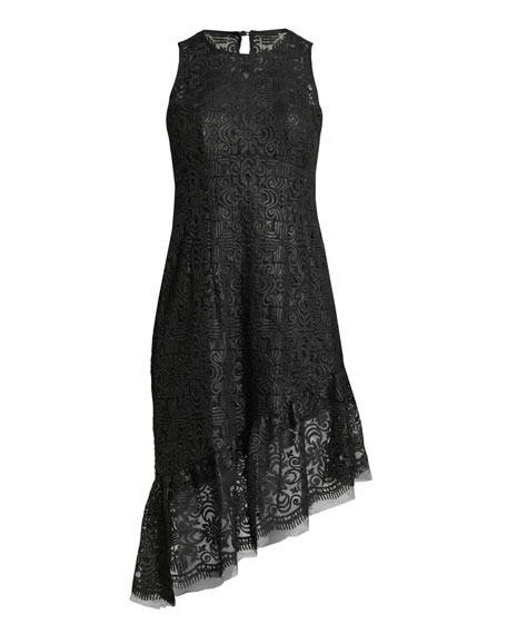Mata Hari Asymmetric Sequined Dress