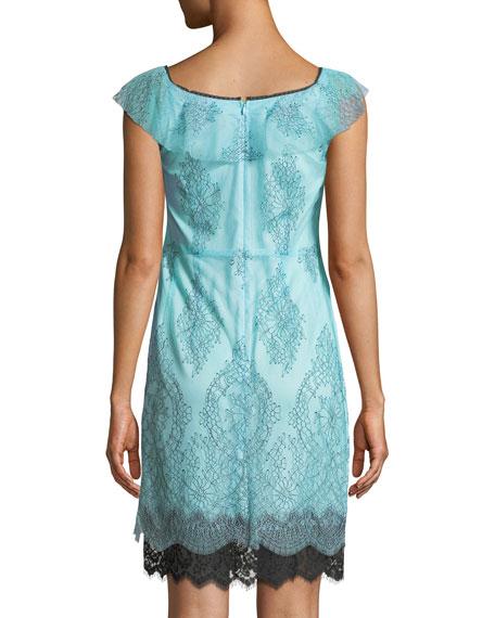 Lucious Illusion Lace Mini Dress