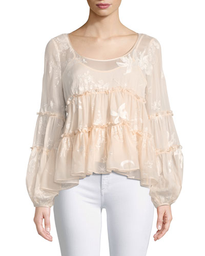 Jasmin Tiered Silk Blouse