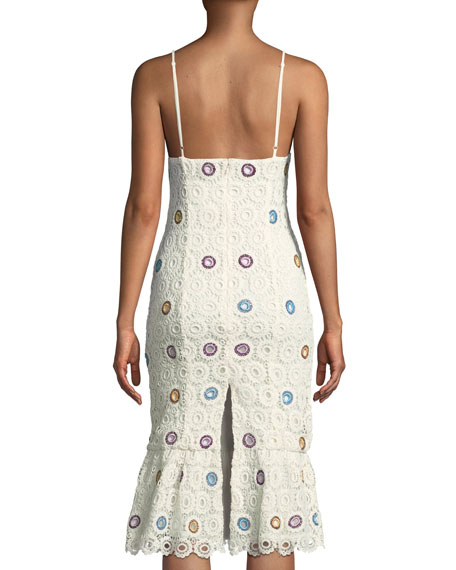 Iris Sleeveless Crochet Lace Midi Dress