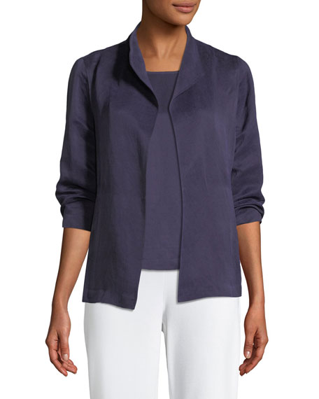 Eileen Fisher Linen/Silk Satin 3/4-Sleeve Jacket and Matching