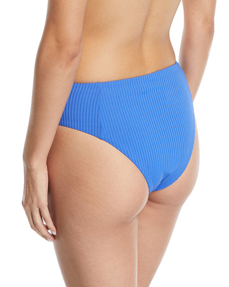 Sieena High-Waist Textured Swim Bikini Bottoms