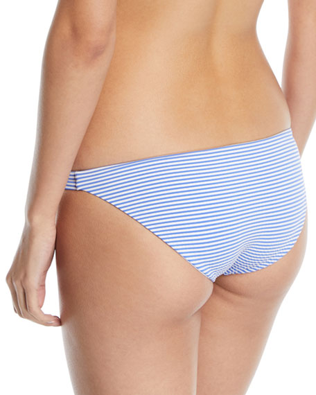 Luciana Striped Hipster Full-Coverage Swim Bikini Bottoms
