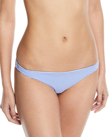 Vitamin A Luciana Striped Hipster Full-Coverage Swim Bikini Bottoms