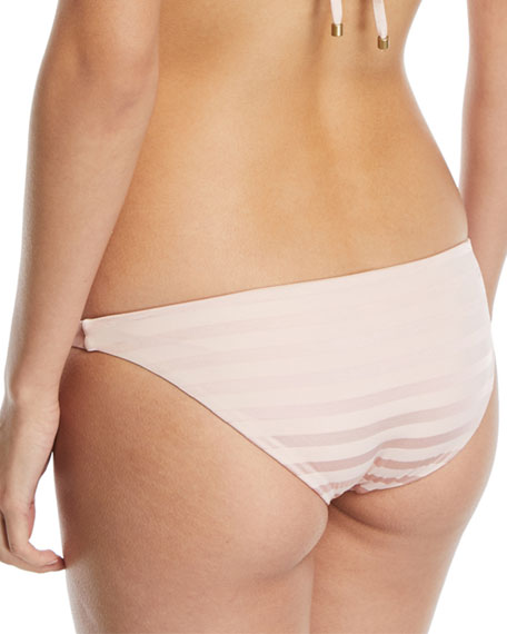 Tulum Tonal-Striped Swim Bikini Bottoms