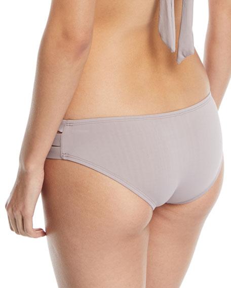 Emelia Triple-Strap Swim Bikini Bottom, U-Taupia