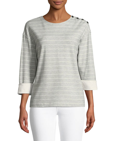 Lafayette 148 New York Harmon Mulberry Stripe Top