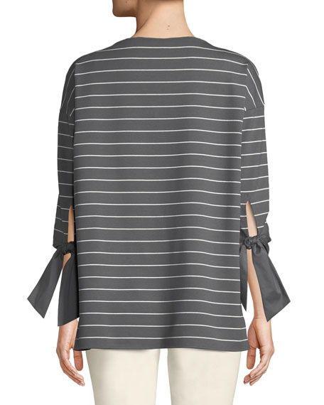 Catriona Mulberry Stripe Top