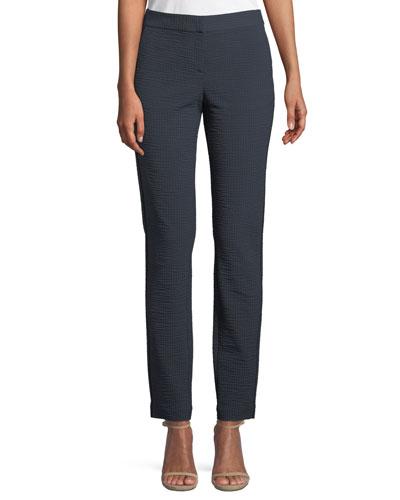 Manhattan Slim Striped Seersucker Pants