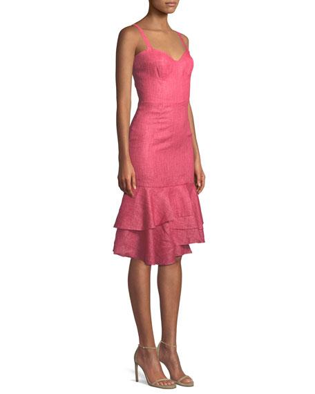 Kendal Linen Ruffle-Hem Dress