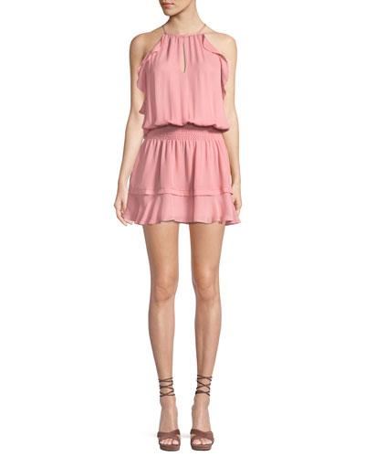 Williame Sleeveless Blouson Silk Dress