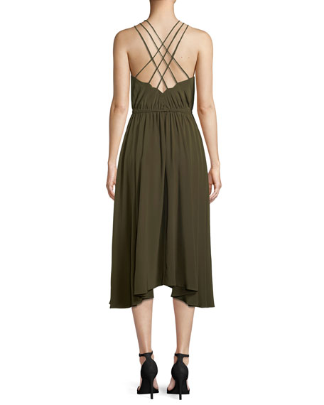 Mykonos Cross-Back Halter Dress