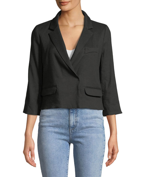 3/4-Sleeve Cropped Blazer
