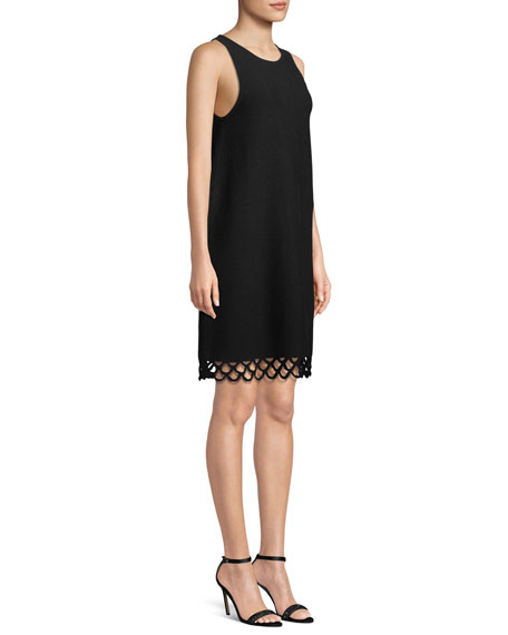 Eyelet-Trim Shift Dress