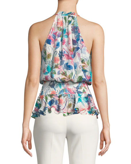 Creed Combo Floral Silk Top