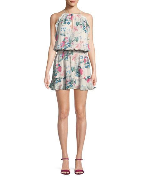 Williame Sleeveless Blouson Silk Dress