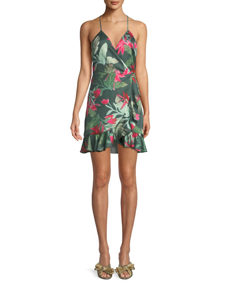 Lovers And Friends Gigi Halter Floral-Print Mini Wrap