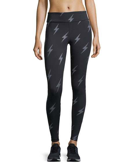 Alala Captain Lightning Ankle Running Tights/Leggings