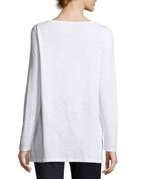 Slubby Organic Cotton Top, Petite