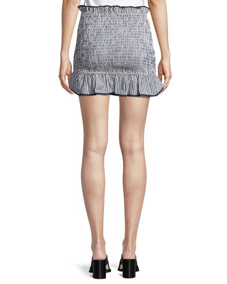 Beatrice Smocked Ruffle Mini Skirt