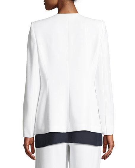 Allegra One-Snap Crepe Jacket