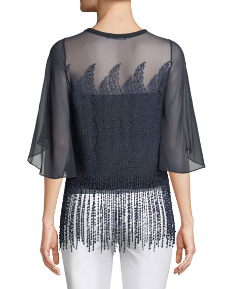 Noreen Beaded Chiffon Blouse