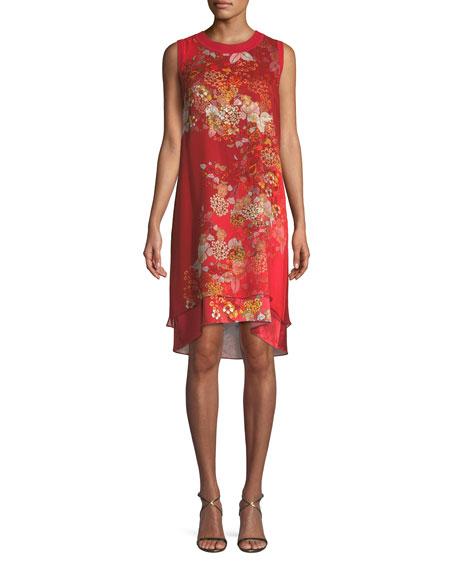 Malaya Sleeveless Floral-Print Dress