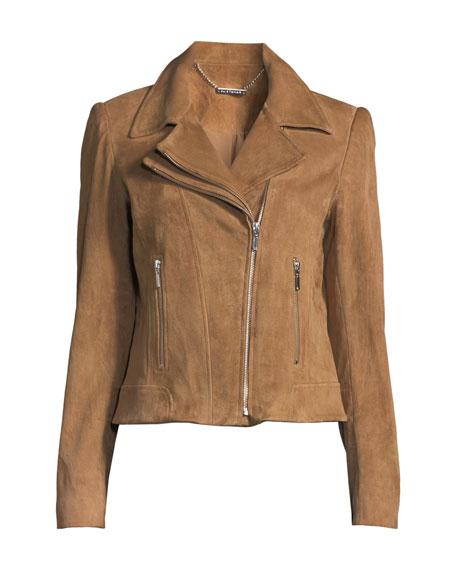 Angalie Suede Moto Jacket