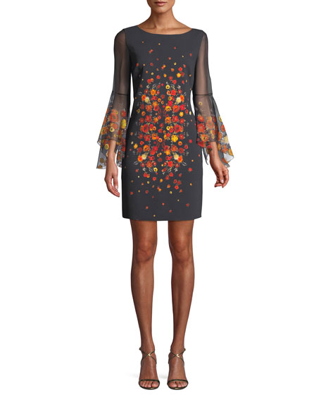 Elie Tahari Esmarella Floral-Print Sheath Dress