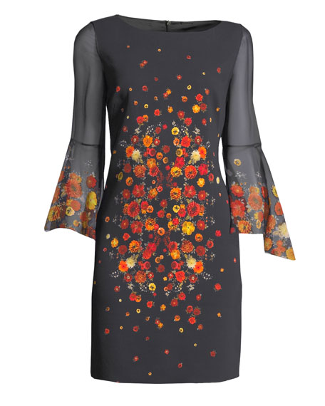 Esmarella Floral-Print Sheath Dress