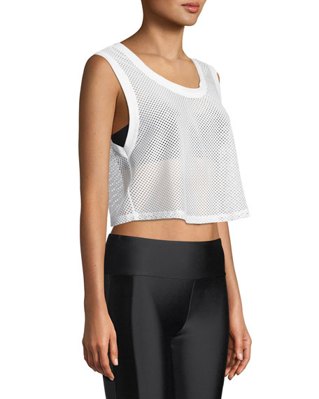 Killian Mesh Cropped Tank