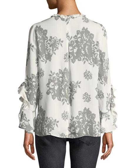 Rafa Floral-Print Silk Blouse