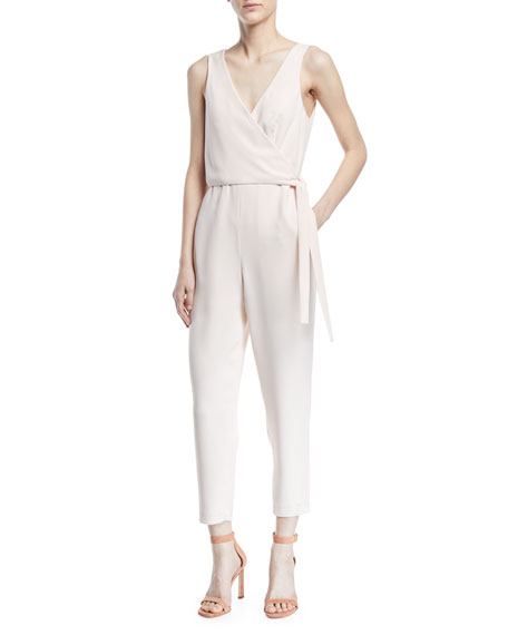 Club Monaco Gressah Sleeveless Tie-Waist Straight-Leg Jumpsuit