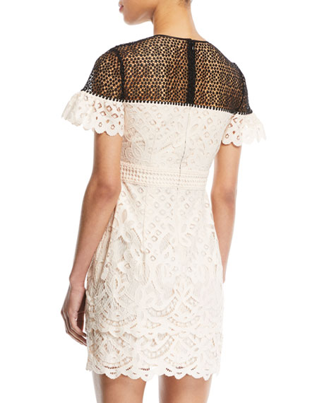 Wollstan Eyelet Lace Sheath Dress