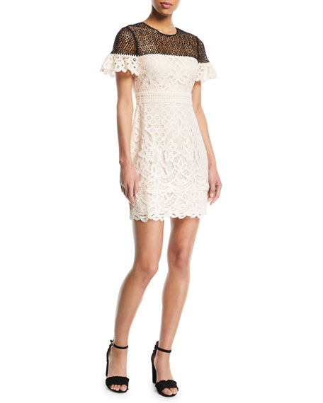 Club Monaco Wollstan Eyelet Lace Sheath Dress