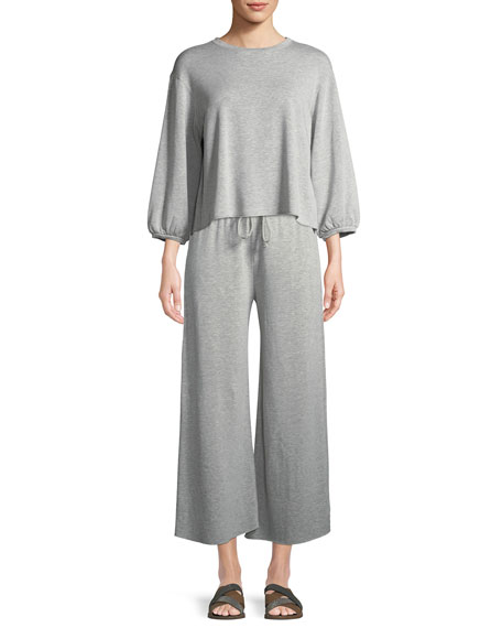 Avalyn Fleece Wide-Leg Pants