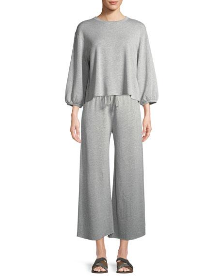 Avalyn Fleece Wide-Leg Pants