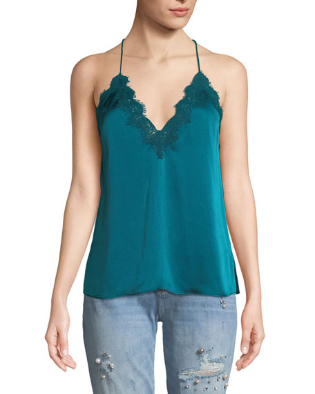 Cami NYC The Everly Silk Camisole w/ Lace