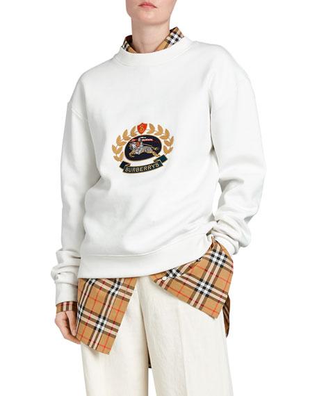 Burberry Archive Logo Jersey Sweatshirt