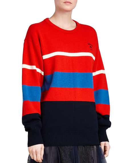Red Striped Wool Sweater