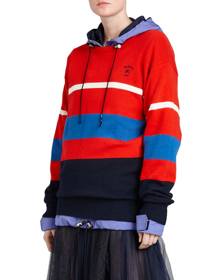 Burberry Red Striped Wool Sweater
