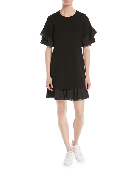 Kobi Halperin Savina Ruffle-Trim Shift Dress