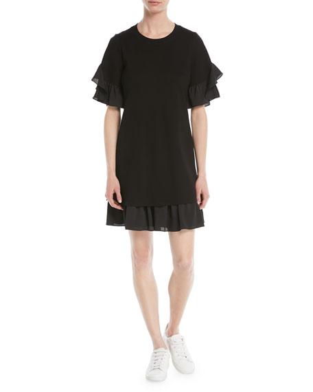 Savina Ruffle-Trim Shift Dress