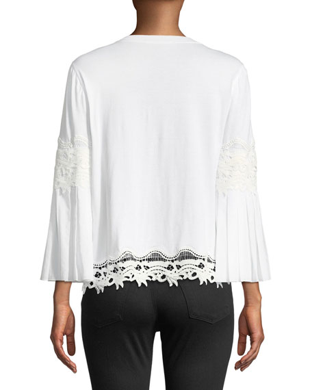 Indira Lace-Detail Blouse