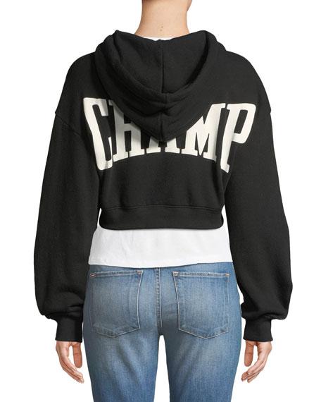 Barron Cropped Zip-Front Hoodie