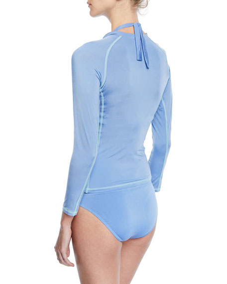 Long-Sleeve Half-Zip Rashguard