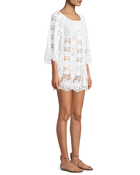 Brigette Embroidered Lace Coverup